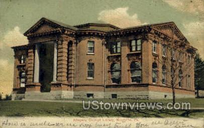 Allegany College Library - Meadville, Pennsylvania PA Postcard