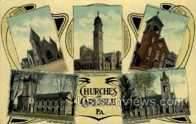 First Lutheran Church, - Carlisle, Pennsylvania PA Postcard