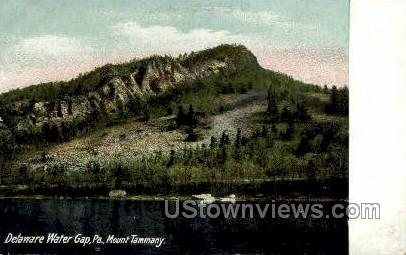 Mount Tammany - Delaware Water Gap, Pennsylvania PA Postcard