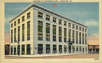 Chamber of Commerce Bldg - Scranton, Pennsylvania PA Postcard