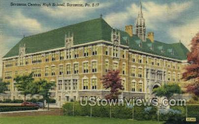 Scranton Central High School - Pennsylvania PA Postcard