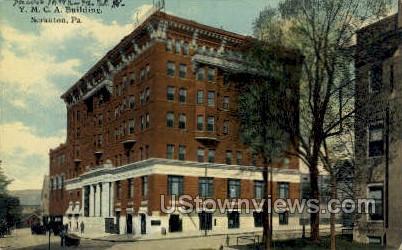 YMCA Bldg, Scranton - Pennsylvania PA Postcard