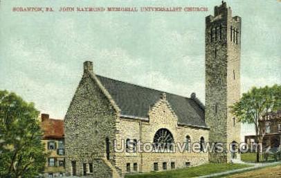 John Raymond Memorial Universalist - Scranton, Pennsylvania PA Postcard