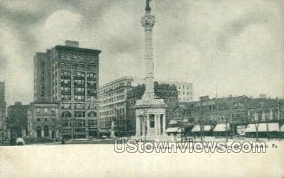 Corner Washington Ave., Spruce St. - Scranton, Pennsylvania PA Postcard
