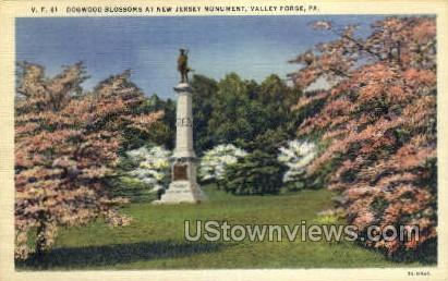 New Jersey Monument - Valley Forge, Pennsylvania PA Postcard