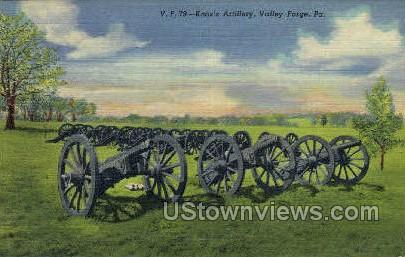 Knox's Artillery - Valley Forge, Pennsylvania PA Postcard