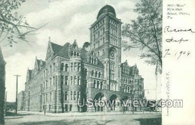 Boys' New High School - Philadelphia, Pennsylvania PA Postcard
