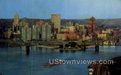 Elliot, Allegheny River - Pittsburgh, Pennsylvania PA Postcard