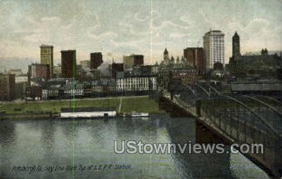 L.E.R.R. Station - Pittsburgh, Pennsylvania PA Postcard