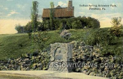 Indian Springs, Schenley Park - Pittsburgh, Pennsylvania PA Postcard