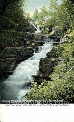 Winona Falls - Delaware Water Gap, Pennsylvania PA Postcard