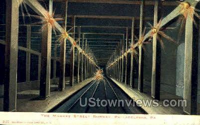 The Market Street Subway - Philadelphia, Pennsylvania PA Postcard