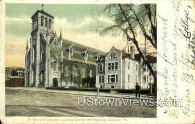 St. Michael's Roman Catholic Church - Chester, Pennsylvania PA Postcard