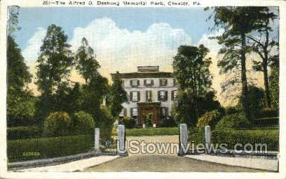 The Alfred O. Deshong Memorial Park - Chester, Pennsylvania PA Postcard