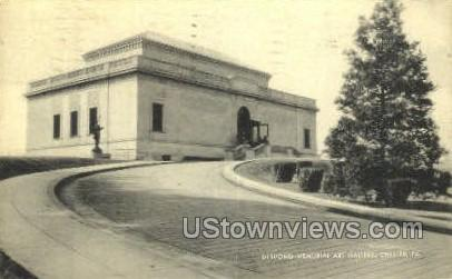 Deshong Memorial Art Gallery - Chester, Pennsylvania PA Postcard