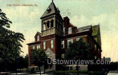 High School, Allentown - Pennsylvania PA Postcard