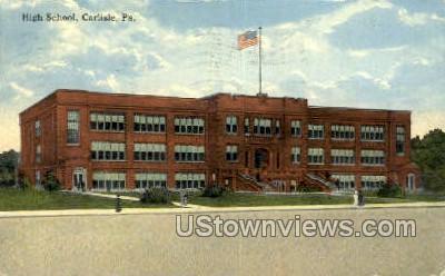 High School, Carlisle - Pennsylvania PA Postcard