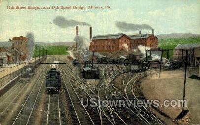 12th Street Shops - Altoona, Pennsylvania PA Postcard