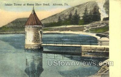 Intake Tower at Horse Shoe Bend - Altoona, Pennsylvania PA Postcard
