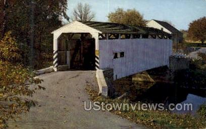 Keller's Mill Bridge - Akron, Pennsylvania PA Postcard