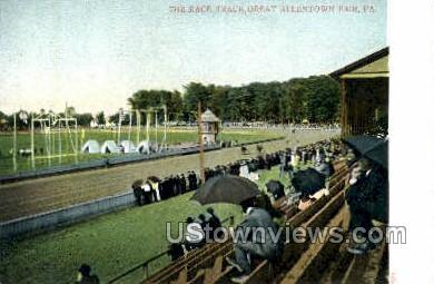 The Race Track, Great Allentown Fair - Pennsylvania PA Postcard