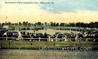 Automobile Park, Allentown Fair - Pennsylvania PA Postcard