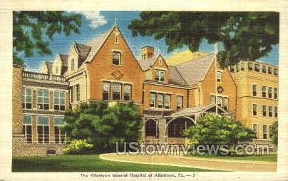 Allentown General Hospital - Pennsylvania PA Postcard