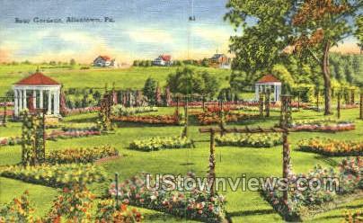 Rose Gardens - Allentown, Pennsylvania PA Postcard
