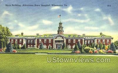 Allentown State Hospital - Pennsylvania PA Postcard