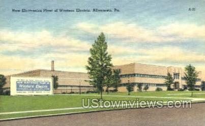 Electronics Plant of Western Electric - Allentown, Pennsylvania PA Postcard