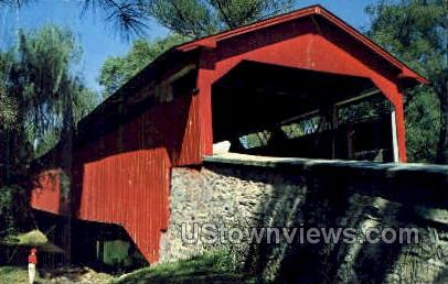 Bogert's Covered Bridge - Allentown, Pennsylvania PA Postcard