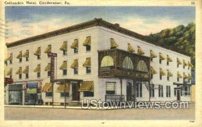 Crittenden Hotel - Coudersport, Pennsylvania PA Postcard