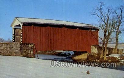 Landis Mill Covered Bridge - Harrisburg, Pennsylvania PA Postcard
