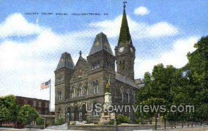 County Court House, Hollidaysburg - Pennsylvania PA Postcard