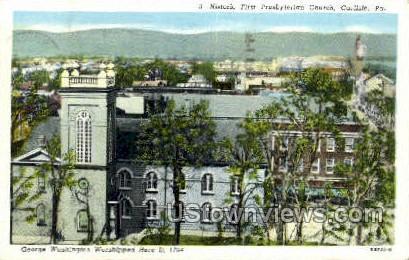 First Presbyterian Church - Carlisle, Pennsylvania PA Postcard