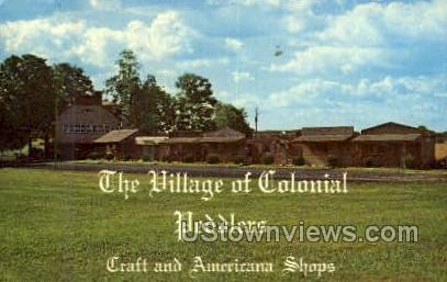 Village of Colonial Peddlers - Carlisle, Pennsylvania PA Postcard