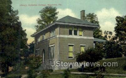 Library, Unitarian College - Meadville, Pennsylvania PA Postcard