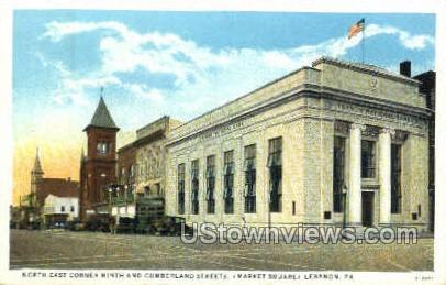 Cumberland Street, Market Square - Lebanon, Pennsylvania PA Postcard