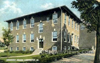 Lancaster College - Pennsylvania PA Postcard
