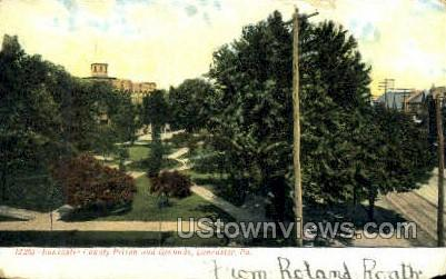 Lancaster County Prison and Grounds - Pennsylvania PA Postcard