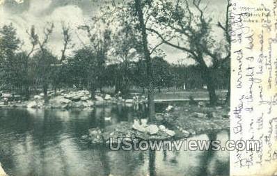 Lake in Allegheny Park - Pittsburgh, Pennsylvania PA Postcard