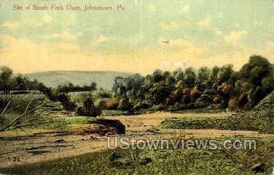 South Fork Dam - Johnstown, Pennsylvania PA Postcard