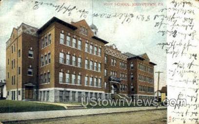 High School, Johnstown - Pennsylvania PA Postcard