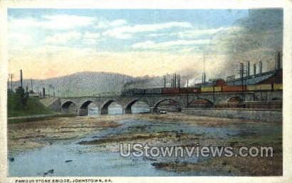 Stone Bridge - Johnstown, Pennsylvania PA Postcard