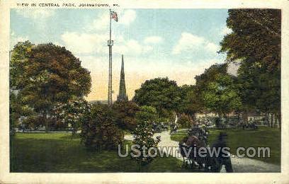 Central Park - Johnstown, Pennsylvania PA Postcard