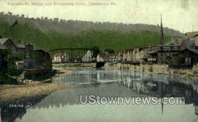 Franklin St. Bridge - Johnstown, Pennsylvania PA Postcard