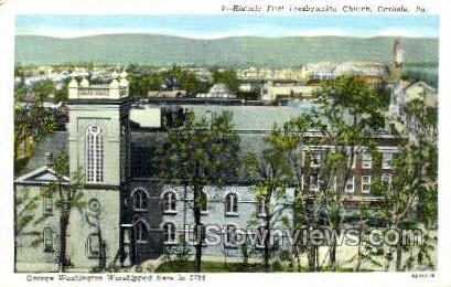 Historic First Presbyterian Church - Carlisle, Pennsylvania PA Postcard