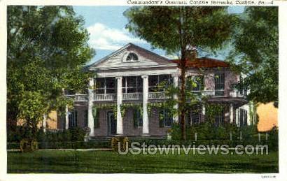 Commandant's Quarters - Carlisle, Pennsylvania PA Postcard