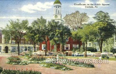 Courthouse, Public Square - Carlisle, Pennsylvania PA Postcard