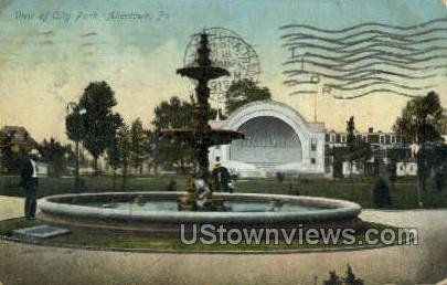 City Park, Allentown - Pennsylvania PA Postcard